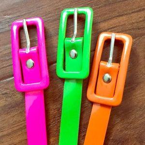 Accessories - 3 Neon Belts